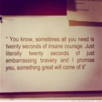 Twenty Seconds of Insane Courage