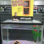 This ad claims that their cell phone that float on water
