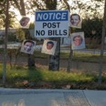 No posting bills allowed here