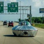 UFO on freeway