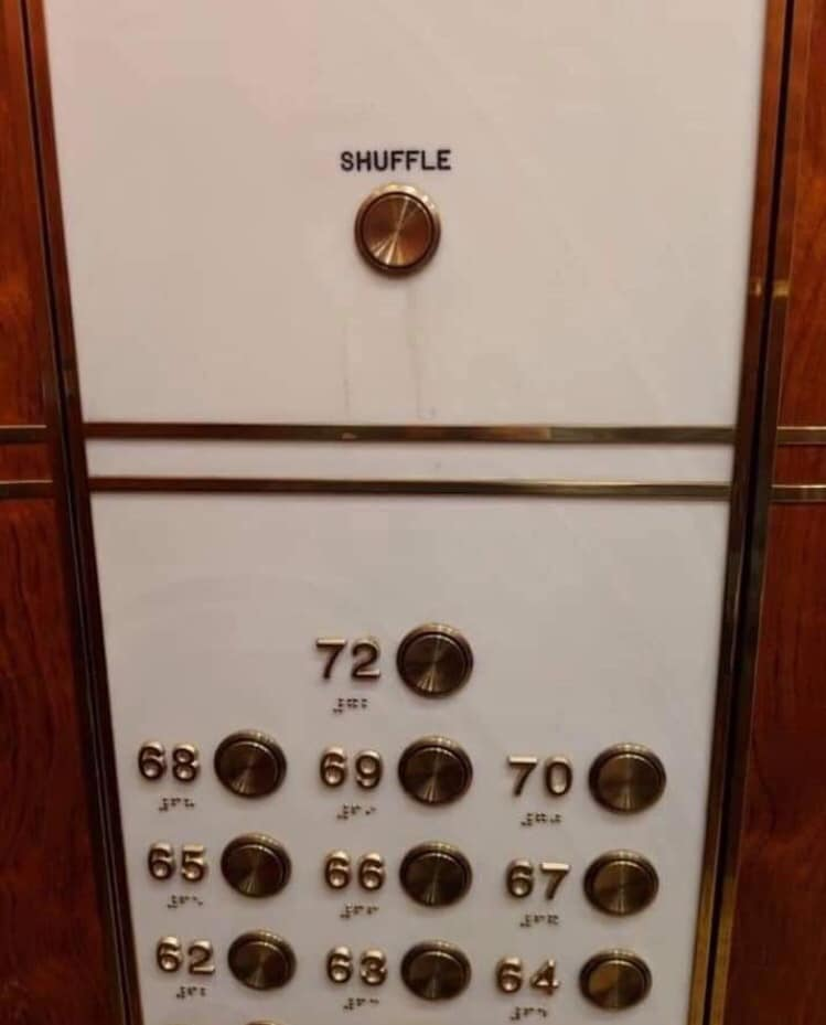Shuffle button for the elevator